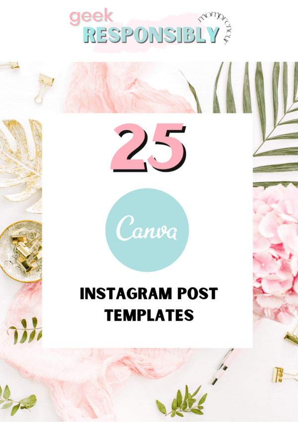 Instagram Template Canva - Blush Pink and Rose - Instagram Post Templates Canva - Beauty - Instagram Posts - Quotes for Instagram